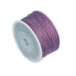 Povoskovaná šňůrka 0,8mm 1m fialová