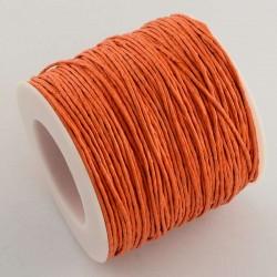Povoskovaná šňůrka 1mm 1m oranžová