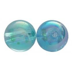 Akrylové korálky 4mm 100ks modrá světlá s AB