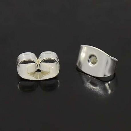 Náušnicové zarážky motýlek 10ks stříbrná