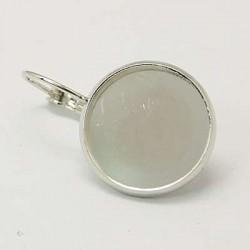 Náušnice s lůžkem 16mm 2ks stříbrná