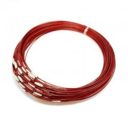 Obojkové lanko 15cm červená