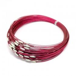 Obojkové lanko 15cm růžová tmavá
