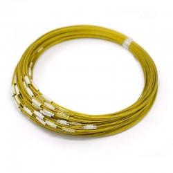 Obojkové lanko 15cm zlatá