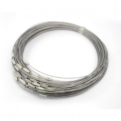 Obojkové lanko 15cm stříbrná