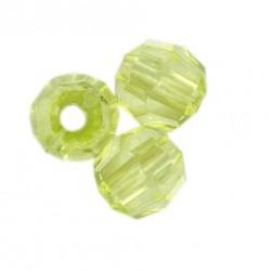 Korálky broušené plast 6mm 350ks zelená