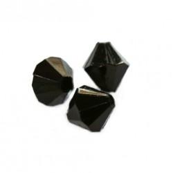 Korálky broušené plast 6mm 50ks černá