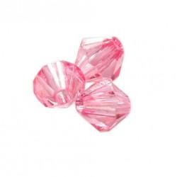 Korálky broušené plast sluníčko 6mm 50ks růžová