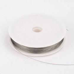 Bižuterní lanko 0,45mm 1m šedá