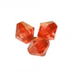 Korálky broušené plast sluníčko 6mm 50ks červená světlá