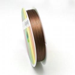 Bižuterní lanko 0,45mm 1m hnědá světlá