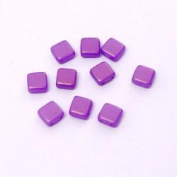 Korálky dvoudírkové 6x6 mm 10ks fialová