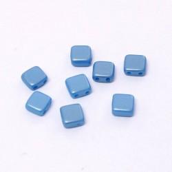 Korálky dvoudírkové 6x6 mm 10ks modrá