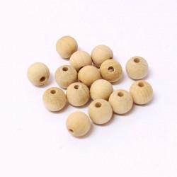 Korálky dřevěné 8mm 25ks přírodní, nelakované