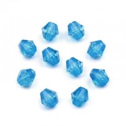 Korálky broušené plast 4mm 200ks modrá