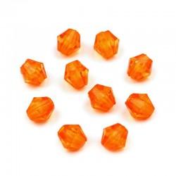 Korálky broušené plast 4mm 200ks oranžová