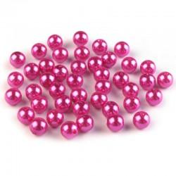 Voskované perličky plast 8mm 20ks růžová
