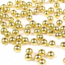 Korálky plastové 4mm 100ks zlatá