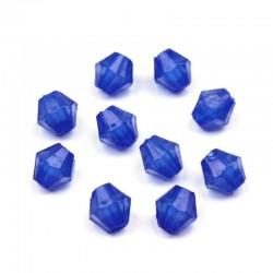 Korálky broušené plast 4mm 200ks modrá tmavá