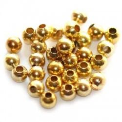 Korálky kovové 3,2mm 100ks zlatá