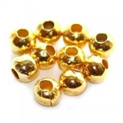 Korálky kovové 4mm 80ks zlatá