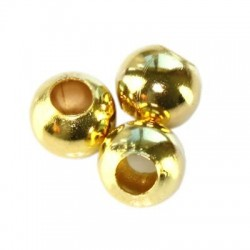 Korálky kovové 6mm 50ks zlatá