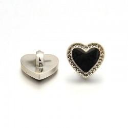 Knoflík srdce 12x7mm 1ks