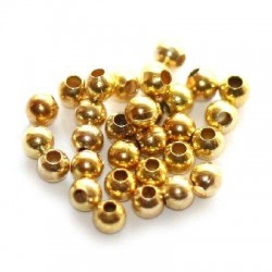 Korálky kovové 2mm 100ks zlatá