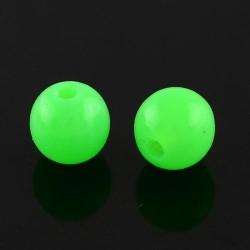 Korálky plastové 10mm 15ks zelená zářivá