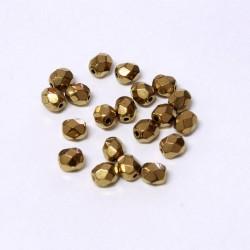 Ohňovky broušené 5mm 30ks bronzový pokov