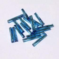Sekaný rokajl 15mm 50ks modrá světlá