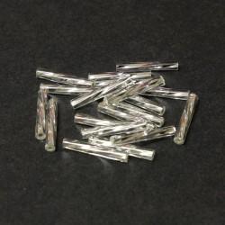 Sekaný rokajl 15mm 50ks stříbrná