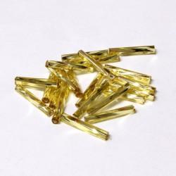 Sekaný rokajl 15mm 50ks zlatá světlá