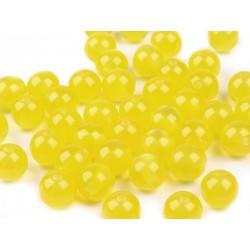 Kočičí oči plast 8mm 16ks žlutá