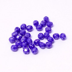 Ohňovky broušené 4mm 40ks modro-fialová