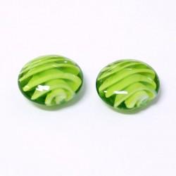 Korálky lampové 20mm 2ks zelená