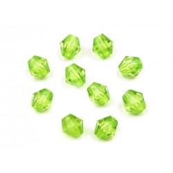 Korálky broušené plast 4mm 200ks zelená